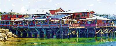 Digital Art - Old Fisherman's Wharf I Monterey Ca by Jim Pavelle