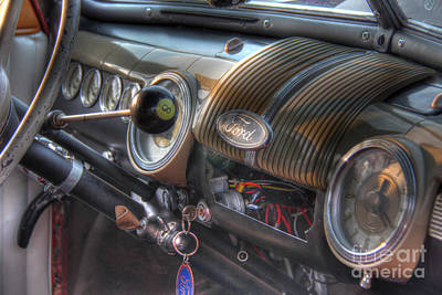 Photograph - Old Ford Dashboard by Lee Dos Santos