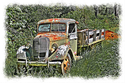 Old Ford Flatbed Art Print