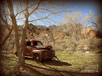 Art Print featuring the photograph Old Ford by Tanya  Searcy