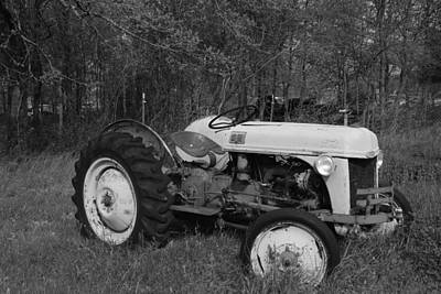 Photograph - Old Ford Tractor Bw by Robyn Stacey