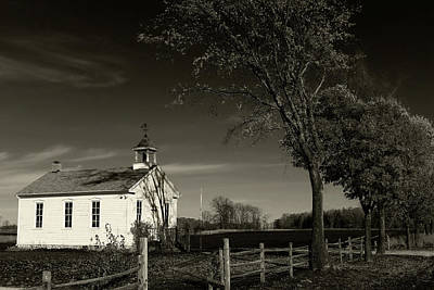 Old Frankenmuth School House 1 Art Print by Scott Hovind