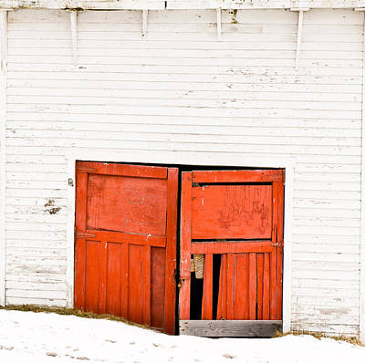 Photograph - Old Garage Doors by Edward Fielding