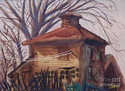 Painting - Old Garage by Rod Ismay
