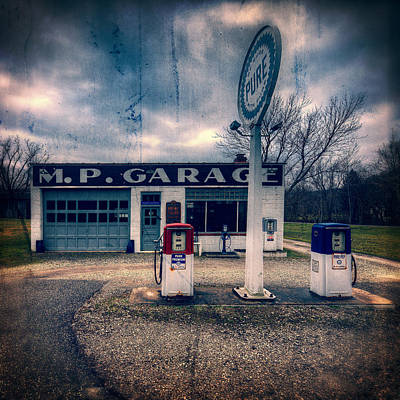Rusty Cars Photograph - Old  Gas Station  by Emmanuel Panagiotakis