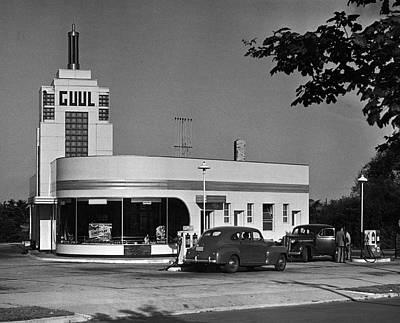 Old Gasoline Station Art Print by George Marks