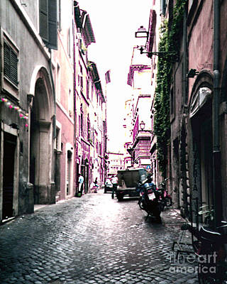 Photograph - Old Jewish Ghetto In Rome Italy by Merton Allen