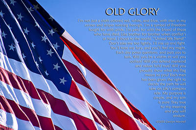 Old Glory Art Print by Carolyn Marshall