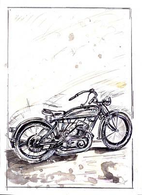 Old Glory Drawing - Old Glory Daysl by Evgeny Kudinov