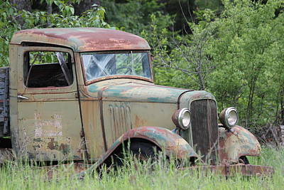 Art Print featuring the photograph Abandoned Truck In Field by Athena Mckinzie