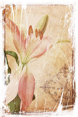 Old Greating Card Art Print by Rozalia Toth
