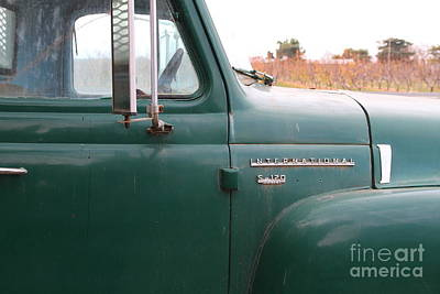 Photograph - Old Green International Harvester Farm Truck . 7d10311 by Wingsdomain Art and Photography