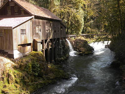 Old Grist Mill Art Print by Garry Kaylor