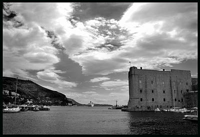 Photograph - Old Harbour Dubrovnik. by Terence Davis