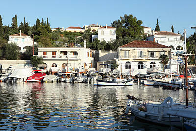 Photograph - Old Harbour On Spetses Island by Paul Cowan