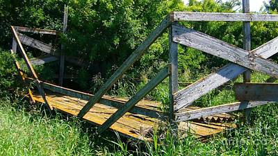Art Print featuring the photograph Old Hayrack by Jim Sauchyn