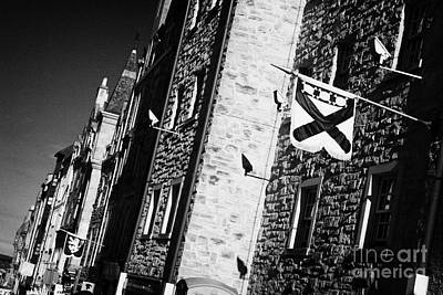Royal Mile Photograph - Old Historic Buildings On High Street Royal Mile Old Town Edinburgh Scotland Uk United Kingdom by Joe Fox