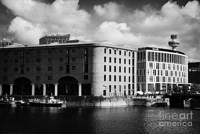 Old Historic Warehouse And The New Hilton Hotel At The Albert Dock Liverpool Merseyside England Uk Art Print by Joe Fox