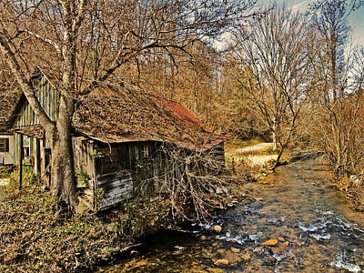 Old Home On A River Art Print