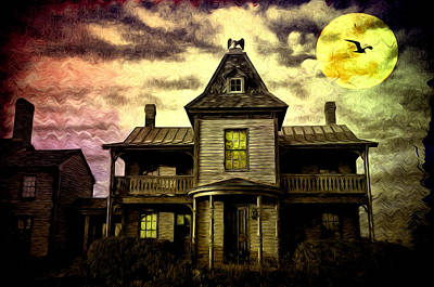 Old House At St Michael's Art Print by Bill Cannon