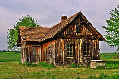 Wood Photograph - Old House by Ivan Slosar