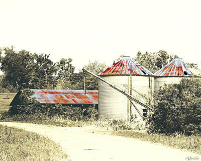 Photograph - Old Hwy 61 Ms Levee Silos by Lizi Beard-Ward