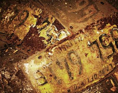 Photograph - Old Illinois Plates by Todd Sherlock