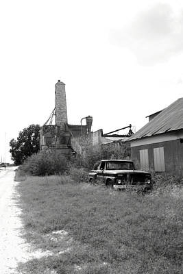 Feed Mill Photograph - Old In Texas by Nina Fosdick