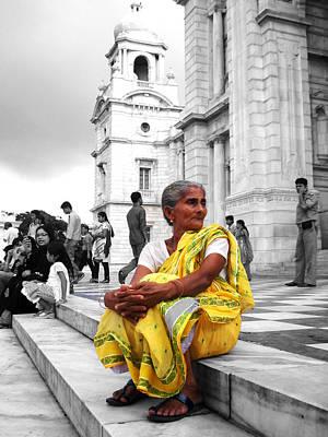 Still Life Photograph - Old Indian Woman by Sumit Mehndiratta
