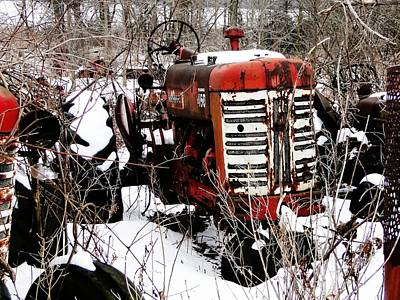 Mixed Media - Old International Harvester Tractor by Bruce Ritchie