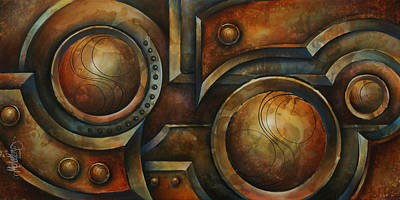 Pulley Painting - 'old Iron' by Michael Lang