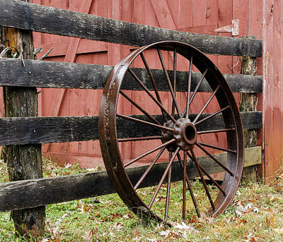Photograph - Old Iron Wheel by David Lester