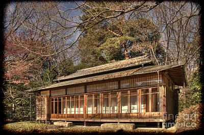 Old Japanese House In Autum Art Print by Tad Kanazaki
