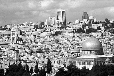 Photograph - Old Jerusalem Black N White by Munir Alawi