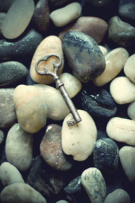 Photograph - Old Key Lost Among Stones by Ethiriel  Photography