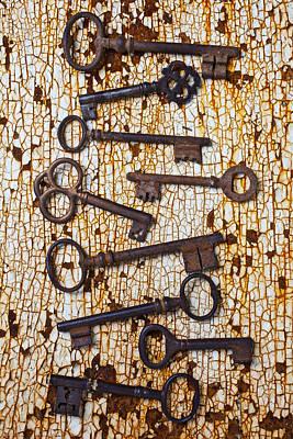 Old Keys Art Print by Garry Gay