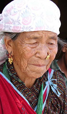 Photograph - Old Lady From Nepal by Anand Swaroop Manchiraju