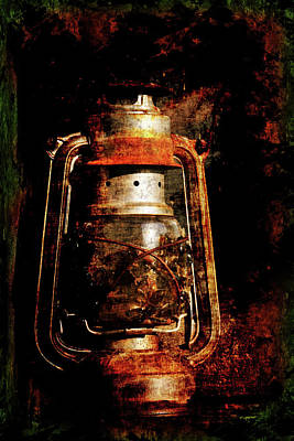 Old Lantern Original by Li   van Saathoff