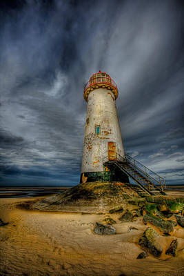 Old Lighthouse Art Print by Adrian Evans