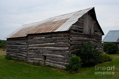 Art Print featuring the photograph Old Log Building by Barbara McMahon