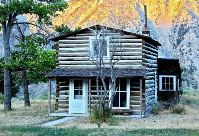 Photograph - Old Log Cabin In Yellowstone by Karon Melillo DeVega