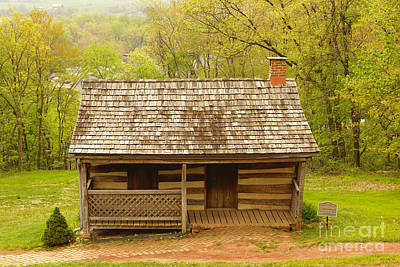 Old Log Cabin Art Print by J Jaiam