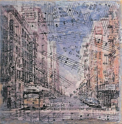 Mixed Media - Old Los Angeles Broadway by Ruby Cross