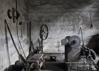 Old Machine Shop Interior Print by Shannon Fagan