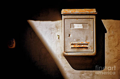 Photograph - Old Mailbox With Doorbell by Silvia Ganora