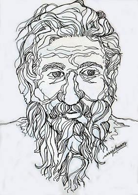 Old Man 2 Art Print by Johnson Moya