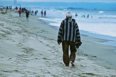 Photograph - Old Man And The Beach by Eric Tressler