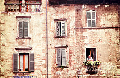 Photograph - Old Man At The Window by Silvia Ganora