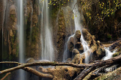 Old Man In The Falls Art Print by Keith Kapple