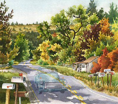 Mailbox Painting - Old Marshall by Anne Gifford